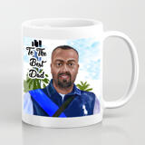 Print on Photo Mug: Digital Caricature Drawing on Father's Day