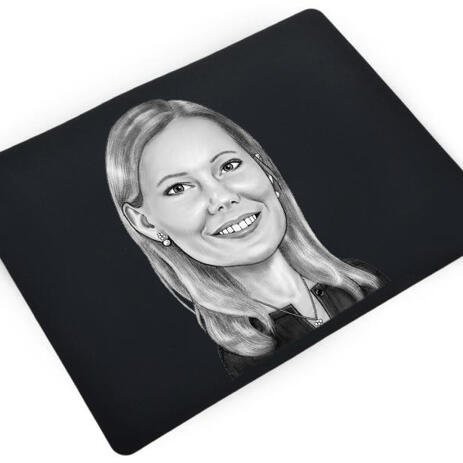 Business Caricature on mouse mat - example