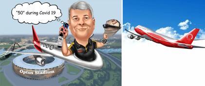 كاريكاتير الطائرات
