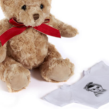 Kid Portrait from Photos as Printed Teddy Bear - example