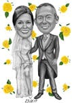 Save the Date Caricature example 14