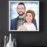 Custom Wedding Gift - Caricature Printed on Poster