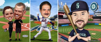 Baseball-karikatyyrit