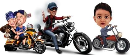 Motorcycle Caricatures