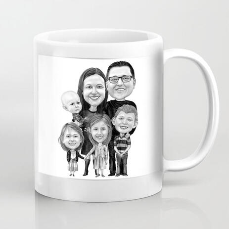 Group Gift - Personalized Caricature Mug - example
