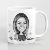 Photo Print on Mug: Custom Cartoon Drawing in Mother's Day Theme
