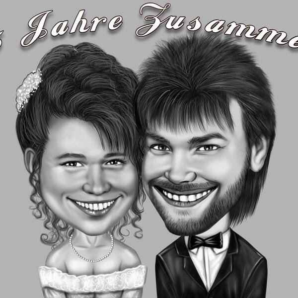 Pro Artist 2 People A4// Full colour CARICATURE from PHOTOS Hand Drawn Gift