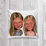 BFF Kid Caricature Printed on Pillow