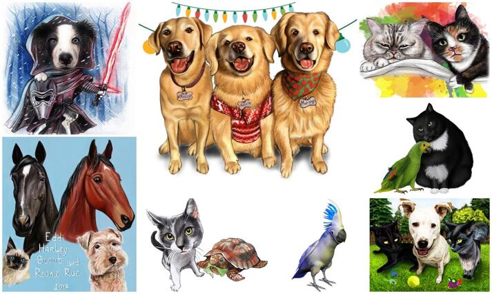 All Pets Caricatures large example