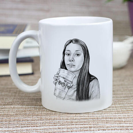 Teen Caricature from Photos as Mug - example