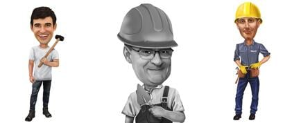 Handyman Worker Caricature