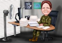 Militära karikatyrer example 8