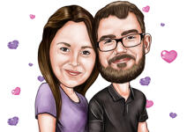 Couple Caricatures example 19