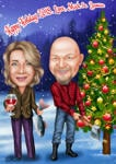 Family Christmas Caricature example 6