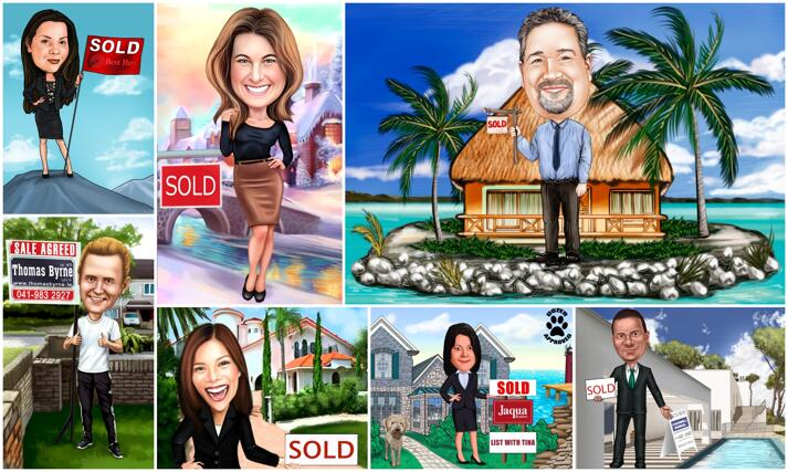 Realtor Caricature large example