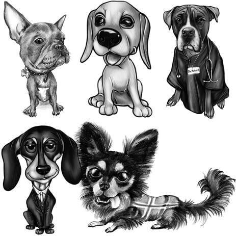 Retrato de perro personalizado de fotos para cumpleaños de mascotas o regalo de pérdida de mascotas - example