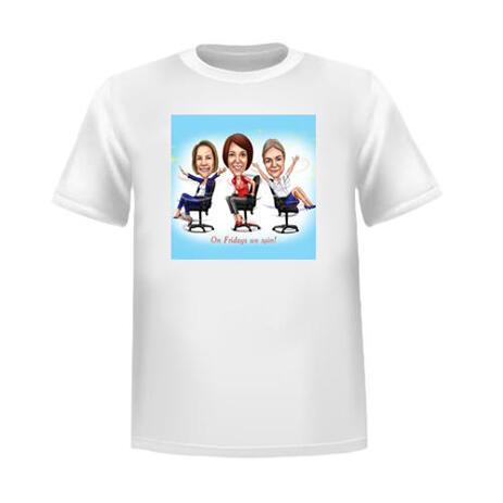Gruppenzeichnung Tshirt Design - example