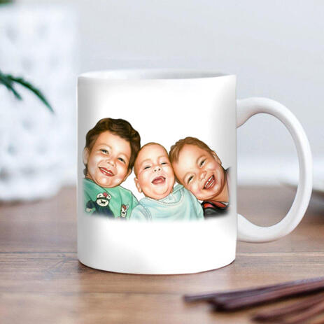 Brothers Caricature from Photos as Mug - example