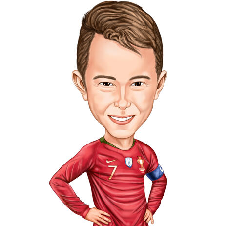 Colored Caricature of Person in Sport Theme from Photos - example