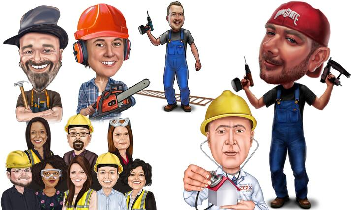 Construction Caricature large example