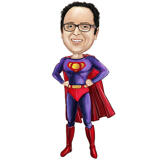 Superhero Caricature Drawing as Ripped Chest with Any Logo
