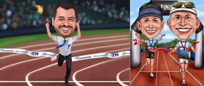Jogging Caricature