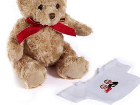 Friends Kids Caricature on Teddy Bear