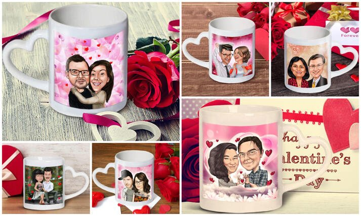 Love Mug Caricature large example