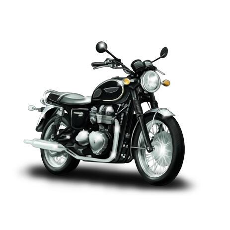 Benutzerdefinierte Motorrad-Porträt-Zeichnung von den Fotos - example