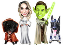 Pets Caricatures example 38