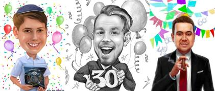 Birthday Caricature for Him