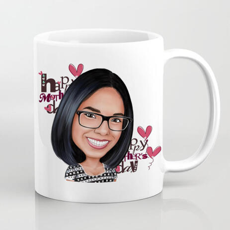 Photo Print on Mug: Photo Drawing of Cartoon and Printing on Mug - example