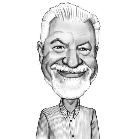 Head and Shoulders Person Caricature from Photo in Pencils Style - example