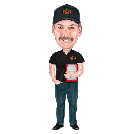 Work Caricature Drawing of Any Profession in Colored Full Body Style from Photos - example