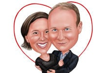 Couple Caricatures example 31