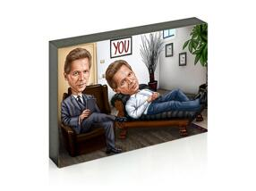 Custom Caricature for Business on Photo Block