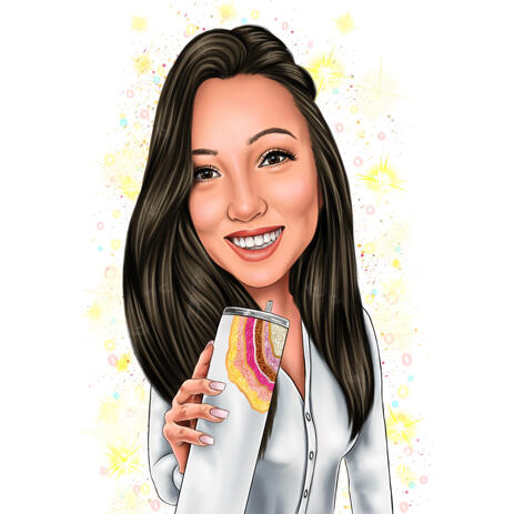 Adorable Pictures Custom Cartoons Caricatures Drawings in Color Style from Photos - example
