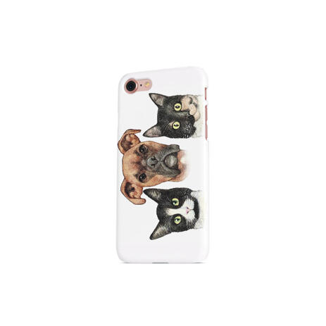 Pets Caricature Printed on Phone Case - example