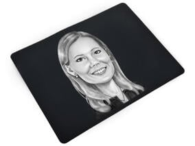 Business Caricature on mouse mat