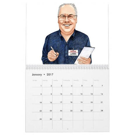 Portrait for Business on Calendar - example