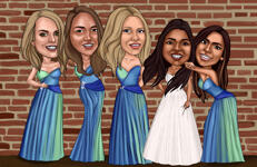 Bridesmaids karikatuur example 6