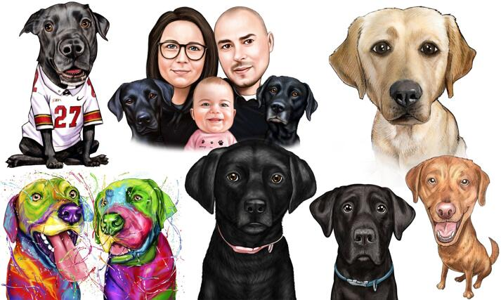 Labrador Caricature large example