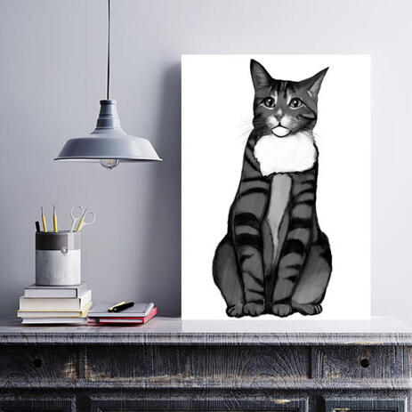 Cat Portrait from Photos on Canvas - example