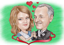 Couple Caricatures example 28