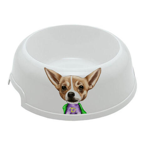 Pet Caricature on Pet Bowl - example