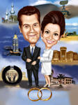 Wedding Caricatures example 12