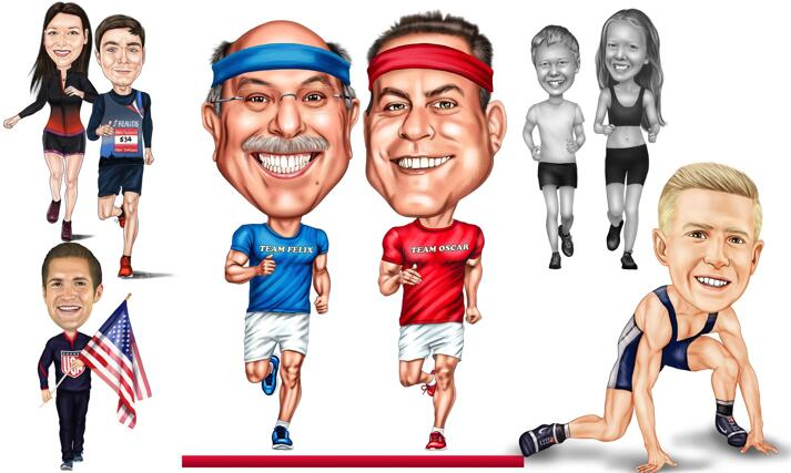 Jogging Caricature large example