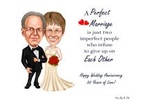 Wedding Caricature Poster example 8