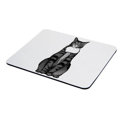 Cat Portrait from Photos on Mouse Pad - example
