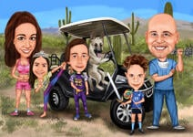 Family Caricatures example 3